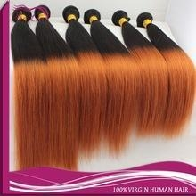 China Grade aaaaaaa two tone ombre hair weaves, brazilian remy hair 1b 350 color on sale