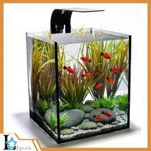 China Custom new design fashion acrylic aquarium fish tank with LED light for wholesale on sale