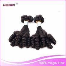 China Misney factory wholesale price 7A grade FUMI Wave 100% Human Hair Indian Hair Extension Weft on sale