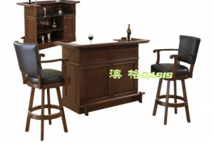 China leather wooden bar stoolsOBF-0005 - solid wood leather bar stools in shanghai shenzhen china on sale