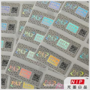 China 30 micron Custom Hologram Tamper Evident Security Labels on sale