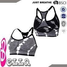 China cheap OEM black/white fabric blends girls good support seamless bra on sale