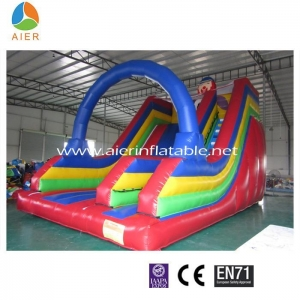 China Inflatable Slides single lane clown slip slideL323 on sale