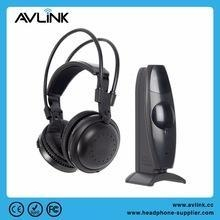China 2.4g MHz UHF silent disco stereo TV headphone with 3.5mm wired socket on sale