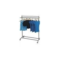 Boutique Raw Steel Double Salesman Rolling Rack