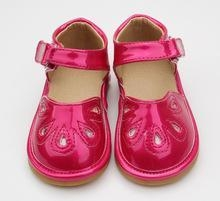China squeaky shoes Children Outdoor Toddler Sandal Shiny Red Girls Squeaky Shoe on sale