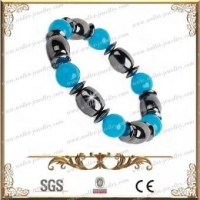 China Bio Magnetic Hematite beaded Bracelet on sale