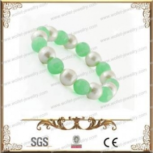 China Fashion Beaded Bracelet Made Of White magnetic beads With Agate,Cheap Wholesale on sale