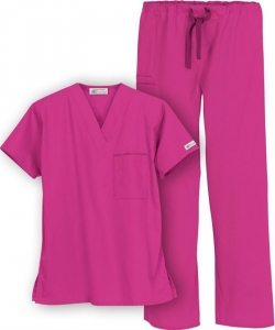 China Burgundy medical nurse scrub suits on sale