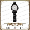 China Black Ceramic Watch With 316L Stainless Steel And CZ Stone,Accpet Customization for sale