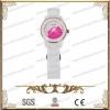 China Fashion Watch With White Ceramic And 316L Stainless Steel,CZ Stone for sale