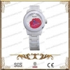 China White Ceramic And 316L Stainless Steel Fashion Watch,Accept Customization for sale
