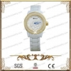 China China Wholesale Fashion Meramic Watch With Stainless Steel And CZ Stone for sale