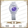 China Ceramic Watch Made Of Stainless Steel And CZ Stone,High Quantity for sale