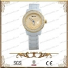 China white ceramic watch with CZ stone for men and women for sale