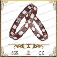 Hot Selling Couple Ceramic Bracelet With Stainless Steel Buckle,Good For Health