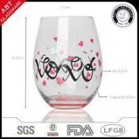 Customized stemless wine glass