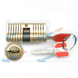 China Transparent Locks cutway practice lock locksmith training pick all brass cresc on sale