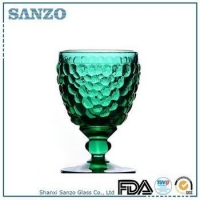 Sanzo Custom Glassware Manufacturer machine made red wine glass drink holder YRW12001G