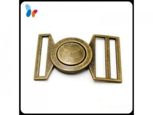 China custom retro alloy metal dress belt buckle for women's coat on sale
