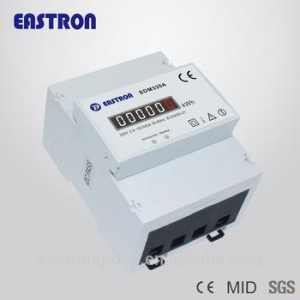 China SDM320A 0.5~100A MID approved Single phase din rail kWh meter with Pulse output, good price!!! on sale