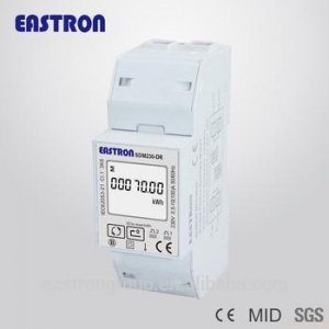 China SDM230DR Single Phase Din rail energy meter 100A MID approved on sale
