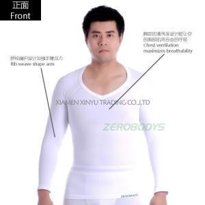 China Men's Shapewear Men's Ultra Light Compression Body-T (Long Sleeve) - Ultra-Light Compression on sale