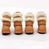 China Dog Shoes & Boots Warm fur winter dog boots for sale