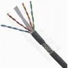 China Lan Cable Cat.6 SFTP cat6, Solid copper, AL braiding, PVC jacket for sale
