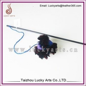 China Lucky Arts Wholesale Cheap Feather Cat Toy/Cat Teaser Toys/Feather bar on sale
