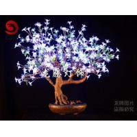 China Indoor hotel decoration waterproof Led cherry bonsai on sale