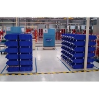stackable plastic bin for warehouse