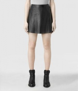 China Leather Jacket Ladies High Waisted Leather Skirt on sale