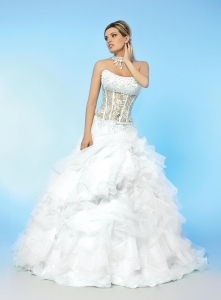 China Wedding Dress 88012511see through ball gowns wedding dresses on sale