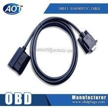 China OBD Diagnostic Tool Right Angle J1962 M to DB9 M Cable OBD2 Male to RS232 Male Wire on sale