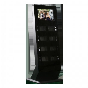 China 21.5 Inch touch digital signage with locker cell phone charging station on sale