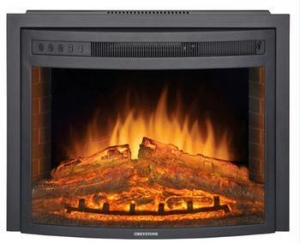 China Curved Panel Insert Electric Fireplace on sale