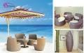 China Modern outdoor furniture rattan bullet coffee set of 5 garden furniture on sale