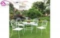 China White PE flat rattan wicker chair table sets garden furniture on sale