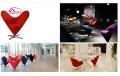 China Fiberglass furniture fashionable and unique heart-shape cone chair made from FRP on sale