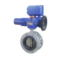 Electric waferflange butterfly valve