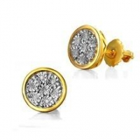 China Alibaba Best Sellers Bridal Jewelry 18k Solid Gold Jewelry Earrings on sale