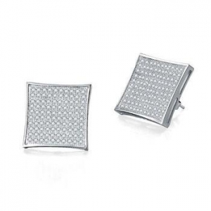 China 925 Sterling Silver Jewelry Wholesale Stud Earrings For Men on sale
