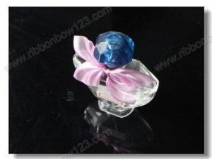 China Ribbon Bows on Bottle perfume bottle decoration ribbon bow on sale