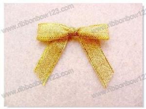 China Ribbon Bows Gold glitter ribbon, ribbon bows on sale