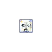 China ZOGIFT Plastic Auto Flip Table Clock Day Date Calendar Clock on sale