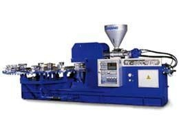 China PVC/TPR PVC/TPR ( TK-980C Rotary one/ two color plastic shoe direct injection molding machine ) on sale