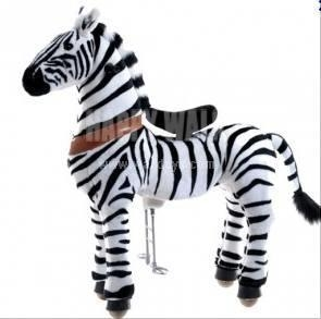 China Zebra Walking Animal plush ride on horse toy for p on sale