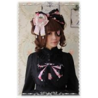 China Lolita Long Coats Infanta The Strawberry Kitchen Maid Lolita Headbow on sale