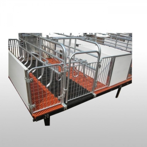 China Farrowing Crates Home NAME:Type C Farrowing Crate with Cast Iron Sow Feeder on sale